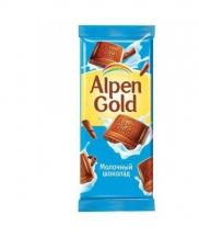 Шоколад Alpen Gold молочный 90 гр.