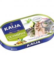 Kaija скумбрия филе в масле с перцем 170 гр.